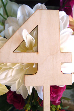 Wood Table Number 4