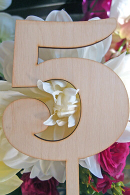 Wood Table Number 5