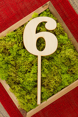 Wood Table Number 6