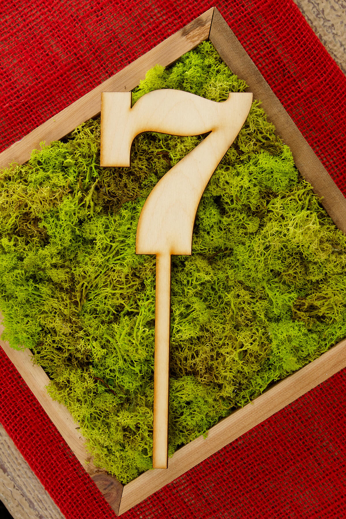 Wood Table Number 7