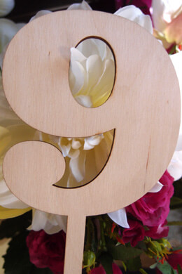 Wood Table Number 9