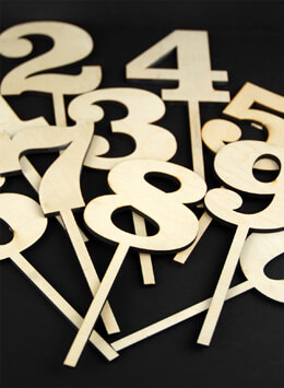 Wood Table Numbers Set of 0-9