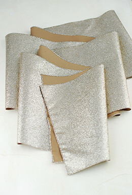 Table Runner Glitter Platinum 96in