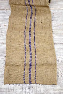 Jute Table Runner with Purple Stripes 14x72in