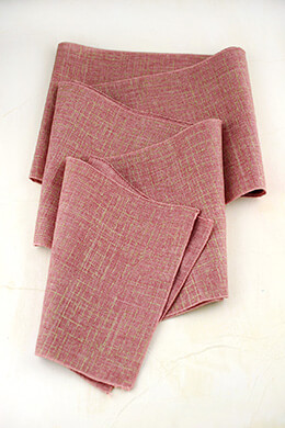 Table Runner Linen Pink 96in