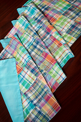 Table Runner Plaid Madras 14x72in