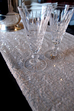 Sequin Table Runners  Ivory  14 x 108