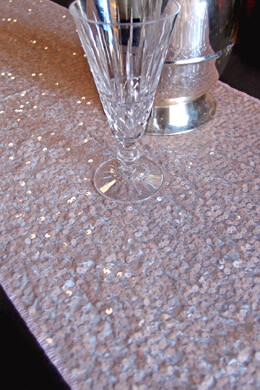 Sequin Table Runners Blush 14 x 108