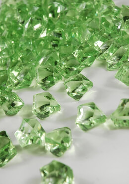 Table Scatter Gems Light Green (.75 lbs)