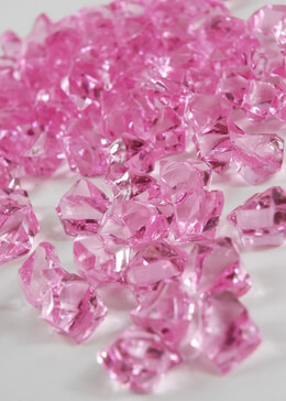 Table Scatter Vase Gems Pink (3/4 lb bag)