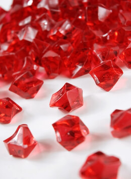 Red Acrylic Gemstones Crystal Wedding Table Confetti 3/4 LB, 1 inch