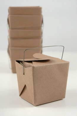 12 Tiny Kraft Paper Take Out Boxes  2.5in