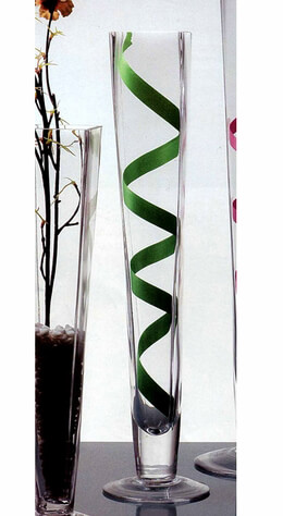 "Tall Glass Vases 19.5"" Square Top Vase"