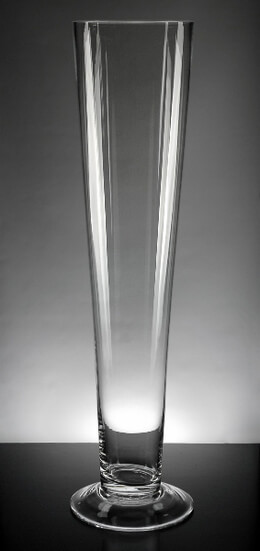 "Tall Vases 25"" Clear Glass Flared Vases"