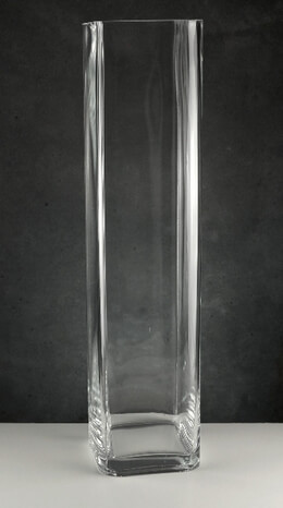 Tall Vases Clear Glass Square 20""