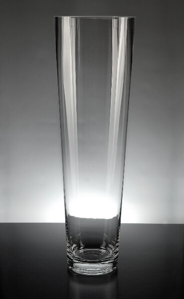 Tapered Clear Glass Cylinder 4.5 x 16 Vases