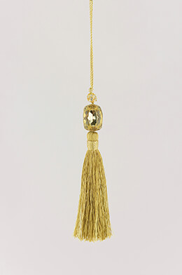 "Gold 5.5"" Jeweled Tassel"