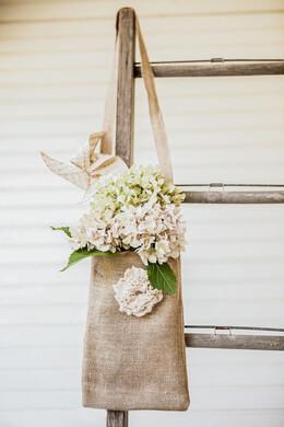 """Tattered Rose Large Burlap Bags 12"""" x 8"""""""
