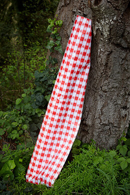 "Tavern Check Tablecloth Red Bolt 54"" x 25yds"