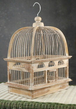 "Teak Handcrafted Bird Cages 16"" x 12.5"""