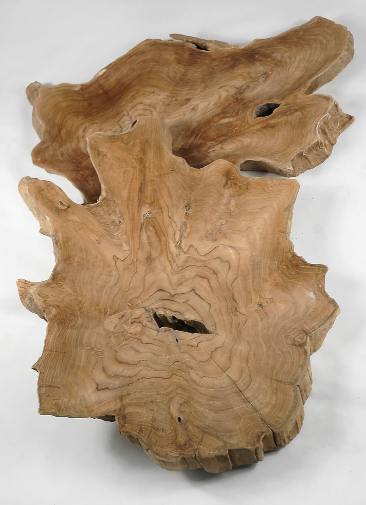 "Teak Slab Natural Wood 22""- 28"""