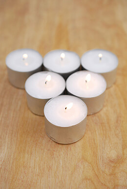 Tealight Candles 1.5in - 8hr Burn (Pack of 50)