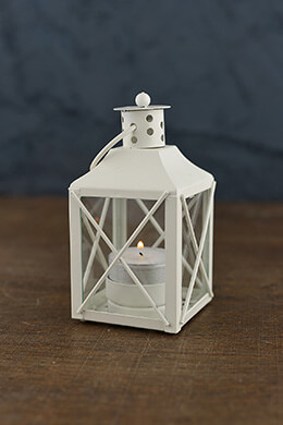 "12 White Tealight 5"" Lanterns"