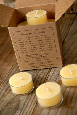 Tealights Pure Beeswax Clear Cups 1.75in - 5hr Burn (Pack of 16)