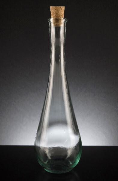 Cork Top Teardrop Bottle 12oz 9 75in