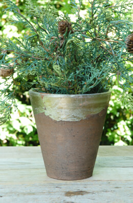 Terra Cotta Pot Metallic 5.5in