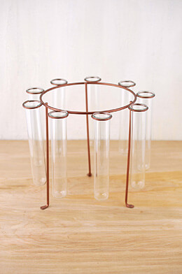 Test Tube Centerpiece Bronze 9 x 8in