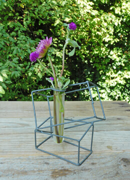 Test Tube Vase Gray 6in (Set of 4)