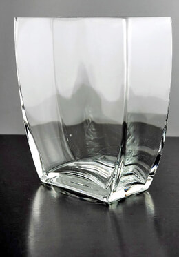 Tapered Square Vase 7.25in