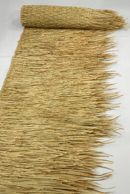 "Tiki Bar Thatch Style Thatching Runner 30"" x 17 feet Natural"