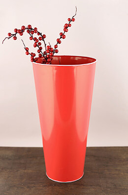Tin Bucket Red 16in