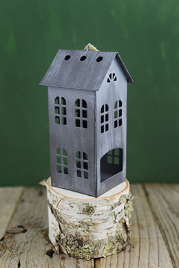 "Tin House 6.25""  Tealight Holder"