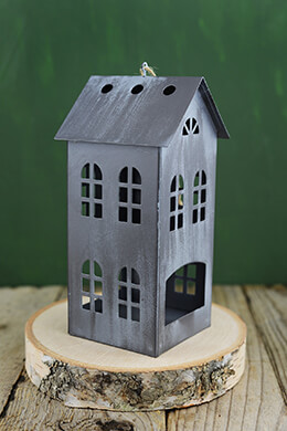 "Tin House 8"" Candle Holder"