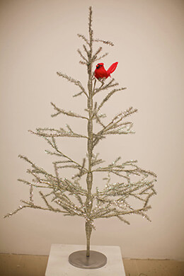 Tinsel Tree Silver 36in