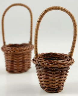 12 Mini Fern Favor Baskets