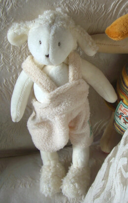 "Tiny Lamb Albert 8"" by Moulin Roty"
