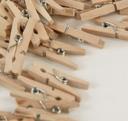 Mini Wood Spring Clothespins 1in | Pack of 50