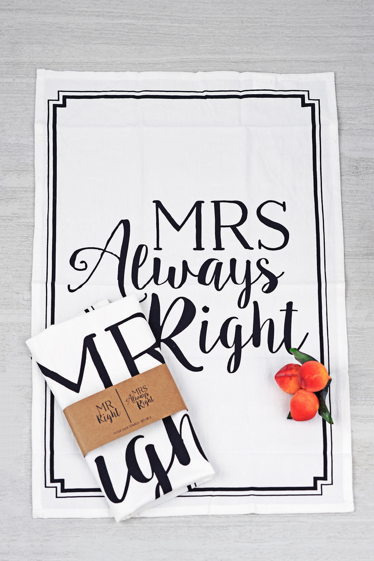 Mud Pie Mr Amp Mrs Right Flour Sack Towel Set