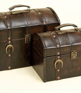 Travel Cases Leather | Set of 2