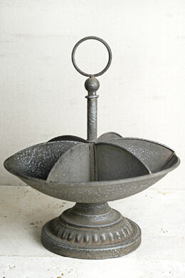 Rustic Metal Rotating Stand with Tray