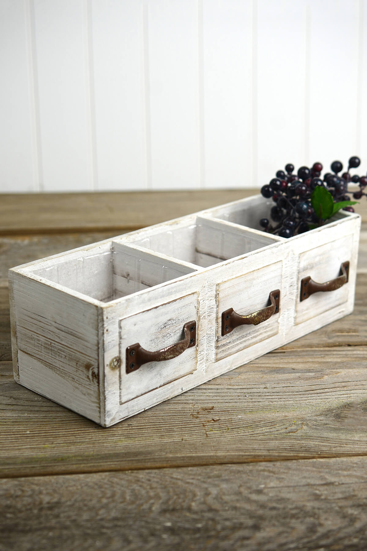 Very Impressive portraiture of Wood Drawer Planter Box Drawer 3 Compartments 13in with #3F671F color and 1200x1800 pixels