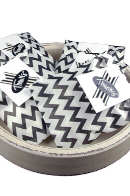 Treat Bags Chevron Black 5x7in (Pack of 100)