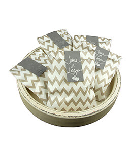 Treat Bags Chevron Gray 5x7in (Pack of 100)