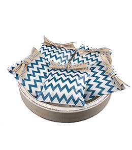 Treat Bags Chevron Navy Blue 5x7in (Pack of 100)