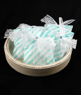 Treat Bags Diagonal Light Blue 5x7in (Pack of 100)