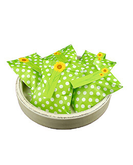 Treat Bags Dots Green 5x7in (Pack of 100)